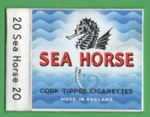 Vintage English Cigarette packet Sea Horse #129